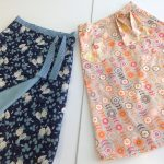 one blue and one peach skirt