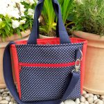 Tote bag with cross body strap